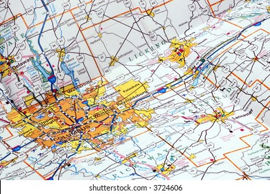 United States Highway Map Stock Photos, Images & Photography ...