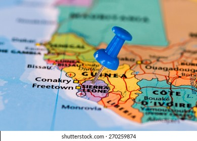 Sierra Leone Map Pin Images Stock Photos Vectors Shutterstock