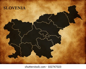 Map of Slovenia in the old style