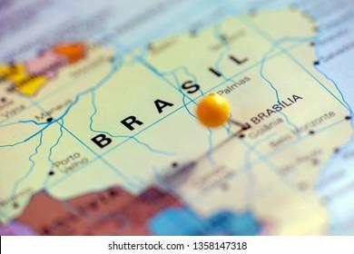 Map of South America, Brasil