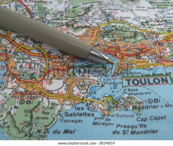 Map Of South East France.Map South East France Coast Near Stock Photo Edit Now 3834859