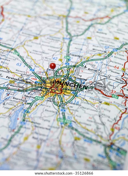 Map Of South Germany.Map South Germany Stock Photo Edit Now 35126866