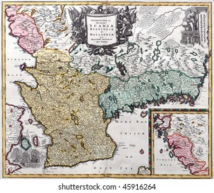 Map from south Sweden from XVIII century.