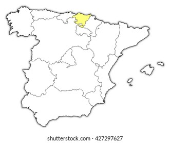 Basque Country Outline Images Stock Photos Vectors Shutterstock