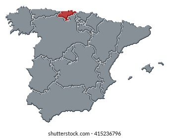 Spain Map Isolated On Transparent Background Stock Vector HD