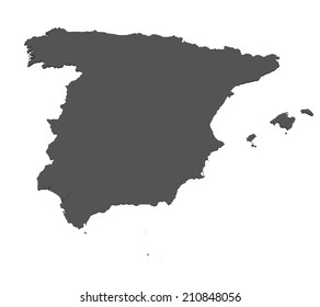 Map of Spain - isolated