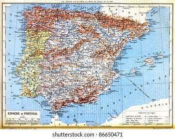 Map Of Portugal And Spain Detailed.Spain Portugal Map Images Stock Photos Vectors Shutterstock