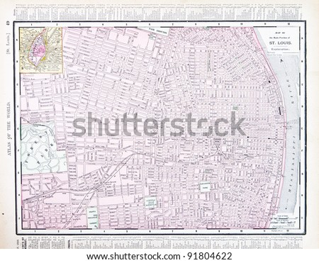 Map St Louis Missouri USA Spoffords Stock Photo (Edit Now) 91804622 ...