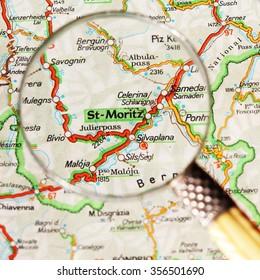 Map Scotland Pin Set On Glasgow Stock Photo Royalty Free 403436665