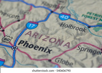 Map with the streets near phoenix, arizona USA