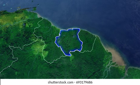 Suriname Map Images Stock Photos Vectors Shutterstock