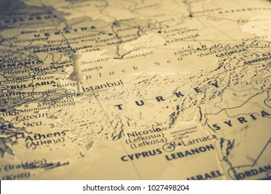 map of turkey istanbul in the atlas