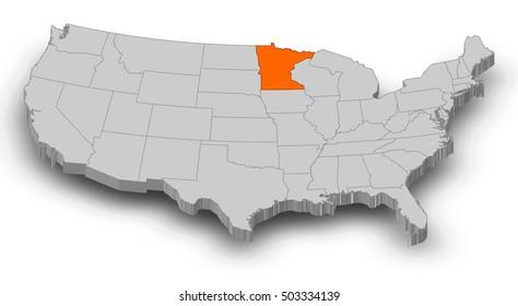 Minnesota Map Images Stock Photos Vectors Shutterstock