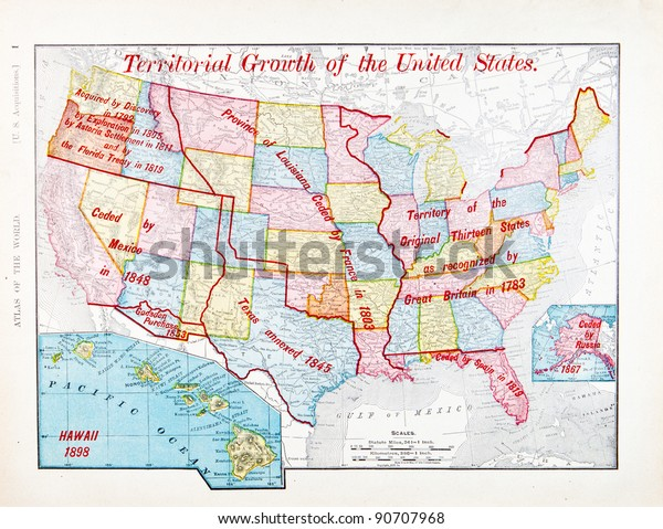 Map United States Showing Steps Which Stock Photo (Edit Now ...