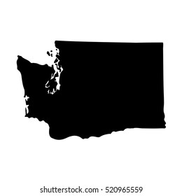 Map of the U.S. state of Washington on a white background