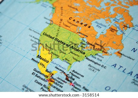Map Usa Canada Stock Photo (Edit Now) 3158514 - Shutterstock