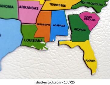 Florida Georgia Map.3d Maps Florida Stock Photos Images Photography Shutterstock