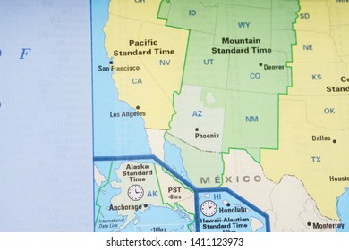 Time Zone Map Usa Images, Stock Photos & Vectors | Shutterstock