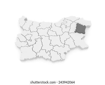 Map of Varna region. Bulgaria. 3d