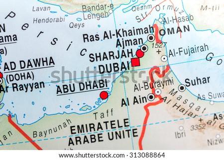 Map View Abu Dhabi Dubai Stockfoto (Jetzt bearbeiten) 313088864 ...