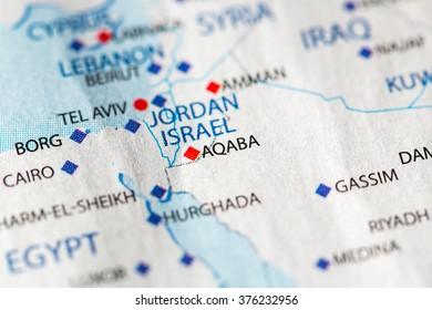 Tel Aviv Middle East Map.Map View Tel Aviv Israel On Stock Photo Edit Now 376935688