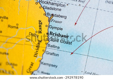 Australia Geographical Map.Map View Australia On Geographical Globe Stock Photo Edit Now