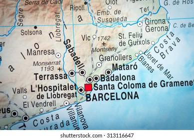 Map view of Barcelona. (vignette)