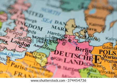 Map View Bremen Germany On Geographical Stock Photo Edit Now