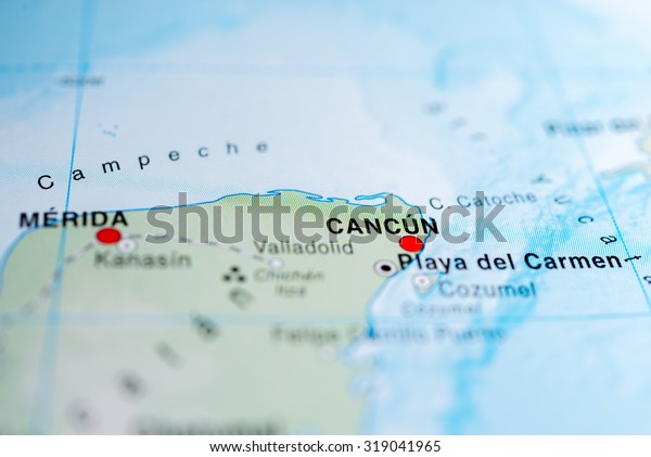 Map View Cancun Mexico Stock Photo Edit Now 319041965