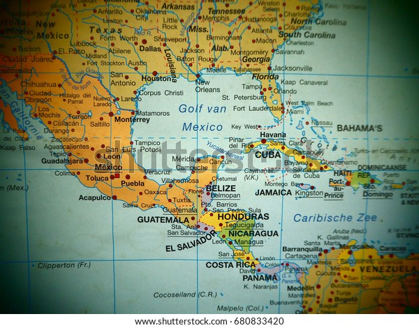 Map View Central America Countries On Stockfoto (Jetzt ...