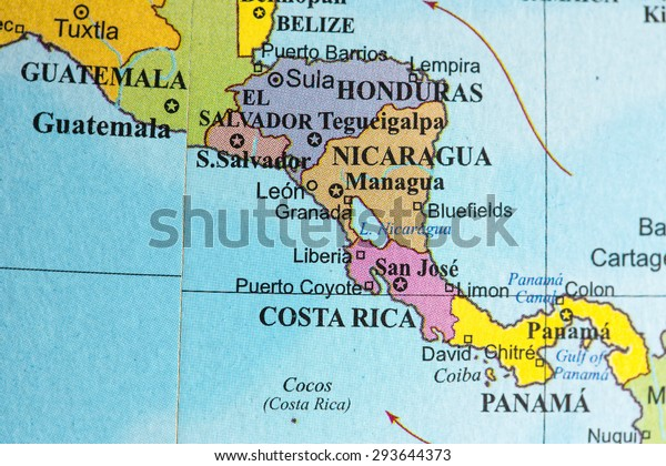 Map View Central America On Geographical Stockfoto (Jetzt ...