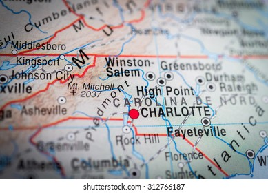 Map view of Charlotte