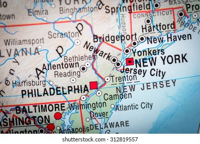 Map view of Delaware State. (vignette)