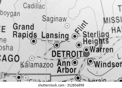 Map view of Detroit