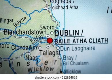 Map view of Dublin. (vignette)