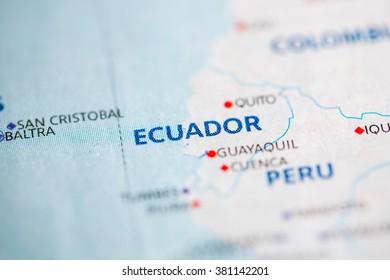 Map view of Ecuador