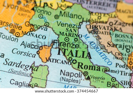 Map View Firenze Italy On Geographical Stock Photo Edit Now