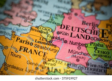 Map View Frankfurt Germany On Geographical Stock Photo Edit Now