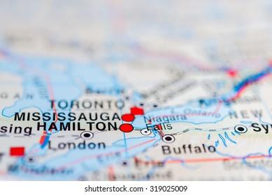 Niagara Falls Map Images Stock Photos Vectors Shutterstock