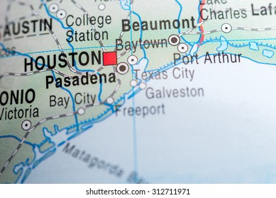 Map view of Houston
