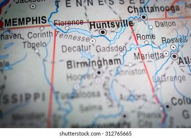Map view of Huntsville