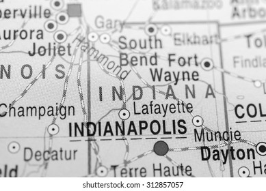 Map view of Indiana State