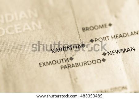 Map Of France Trackidsp 006.Map Of Australia Karratha