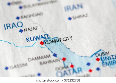 Kuwait map stock photos images photography shutterstock map view of kuwait city kuwait on a geographical map gumiabroncs Image collections