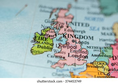 Map View Liverpool UK On Geographical Stock Photo (Edit Now ...