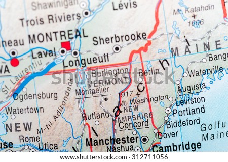 Map View Maine State Stock Photo Edit Now 312711056 Shutterstock