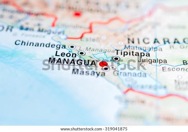 Map View Managua Nicaragua | Royalty-Free Stock Image