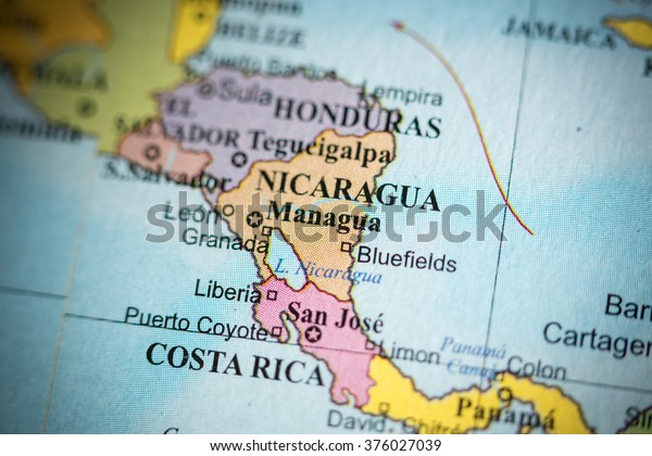 Map View Managua Nicaragua On Geographical Stock Photo (Edit ...