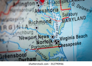Map view of Maryland. (vignette)