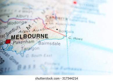 Melbourne Australia On A Map.Melbourne Map Images Stock Photos Vectors Shutterstock